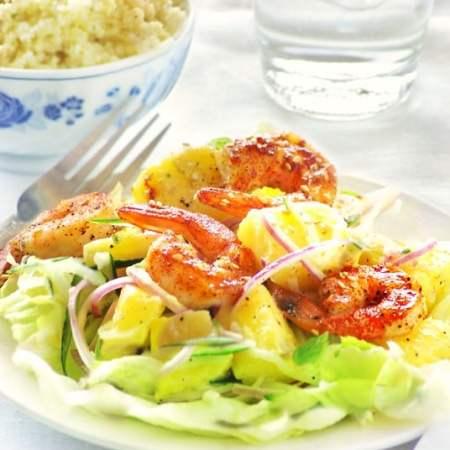 shrimp and pineapple salad