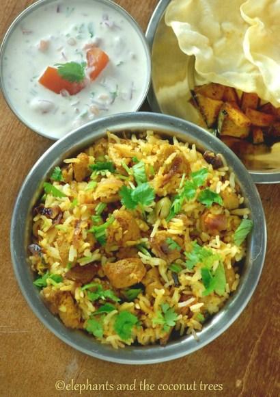 Thumbnail for Soya Chunks Biriyani / Rice cooker Soya Chunks Biriyani / Vegetarian Biriyani