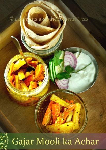 Thumbnail for Gajar Mooli ka achar / Carrot Radish Pickle / Punjabi Winter Pickle