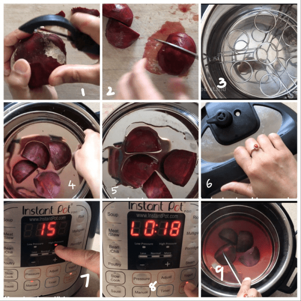 beetroot pressure cooked step by step pictures