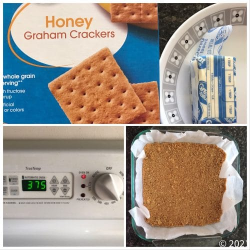 lemon cheesecake bars step 1