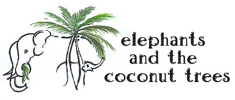 Logo for elephants and the coconut trees