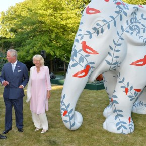 British Royalty Leads Charity Event Saving Elephants : Prince Charles & Duchess of Cornwall Take Rickshaw For a Spin Around Clarence House
