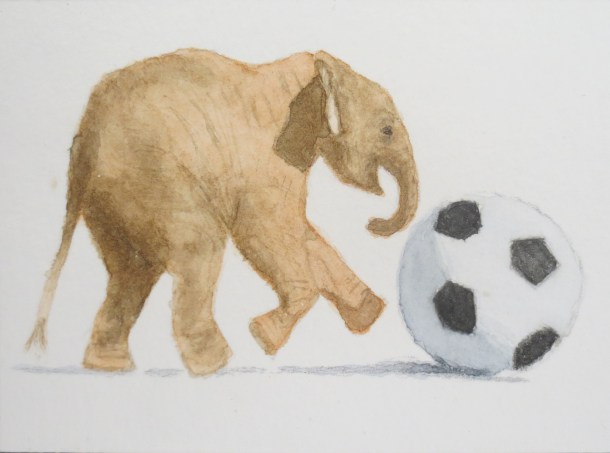 Elephant art watercolor by addison (9)