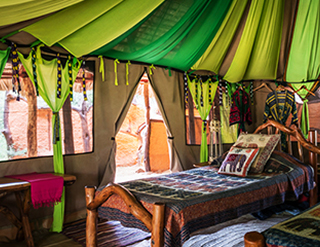 Elephant Watch Camp, bedroom, eco design, eco friendly, sustainability, conservation, wild safaris, wildlife safaris, Samburu National Reserve, Elephant Watch Portfolio, Nairobi, Kenya