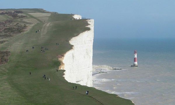 """""""The cliffs of Beachy Head and the Lighthouse below, as viewed along the South Downs Way in East Sussex, England."""" by Diliff, Papa Lima Whiskey"""