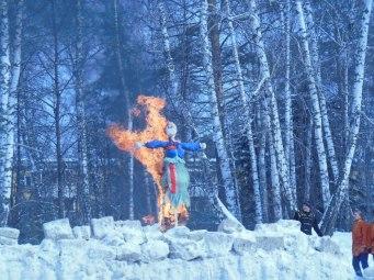 Muñeco en el fuego