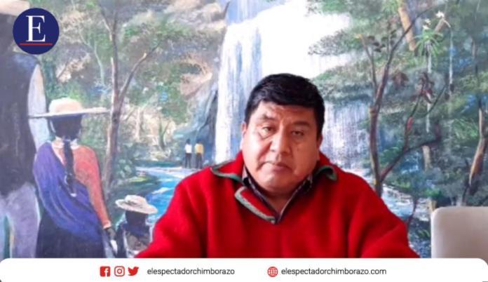 En los próximos días el movimiento indígena resolverá qué hacer con Jaime Vargas, luego de que oficializó su apoyo al candidato correísta, Andrés Arauz. Foto Carlos Sucuzhañay.