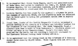 Documento desclasificado de la CIA