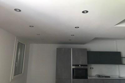 Faretti led su struttura in cartongesso cucina