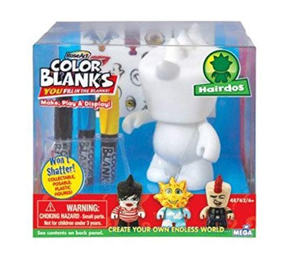 Rose Art Color Blanks Mohawk Hairdo Figure , Ele Toys, LLC