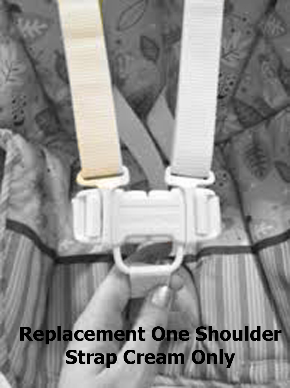 Fisher Price Space Saver High Chair Replacement Shoulder Harness Strap Belt Cream