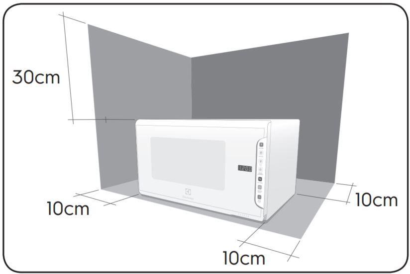Local da Instalação do Microondas Electrolux 31 litros painel Integrado - MI41S3