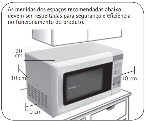 Local da Instalação do Microondas Consul 20 litros Branco - CMS26