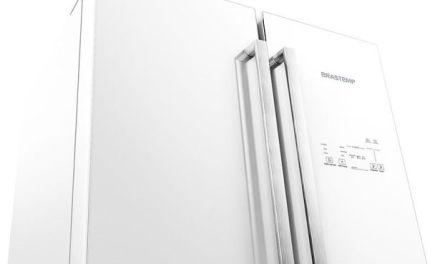Medidas da Geladeira Brastemp 540 litros Vitreous Side Inverse Frost Free Branco – GRO80