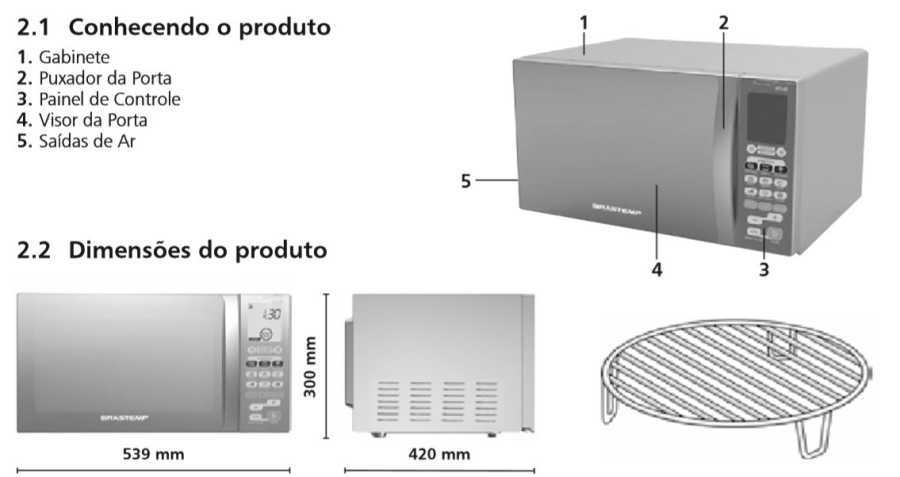 Como utilizar grill - Microondas Brastemp