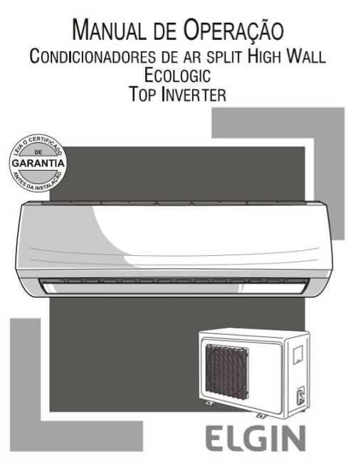 Ar Condicionado Split Elgin - capa manual
