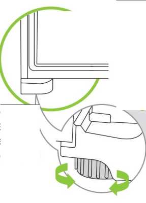 Geladeira Consul CRM38 - nivelando os pés