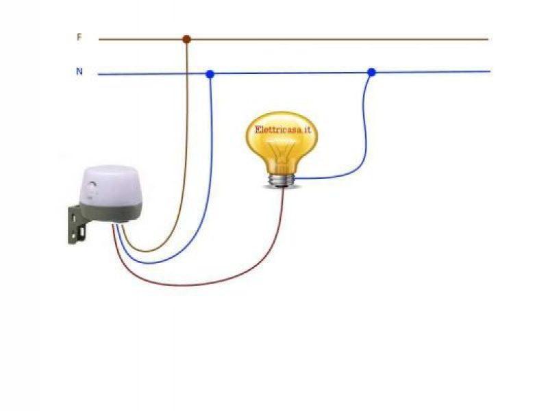 Schema Elettrico Per Interruttore : Interruttore crepuscolare e infrarossi
