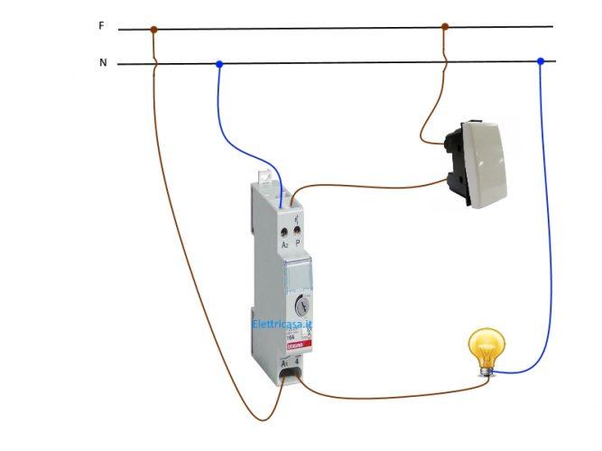 Schema Elettrico Crepuscolare : Temporizzatore collegamento a fili elettricasa