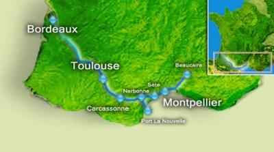 Utazás lakóautóval Béziers - Canal du Midi