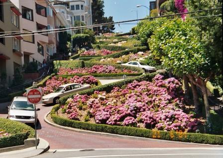 Legek útjai - A legkacskaringósabb utca - Lombard street, San Francisco, USA