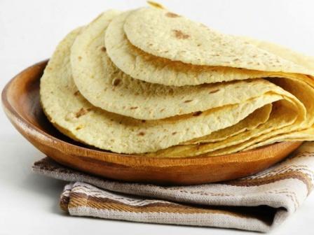 Tortilla recept - tortilla lapok