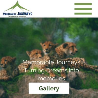 Memorable Journeys, Web Design in Zambia, Elev8 Marketing, Websites by Elev8 Marketing