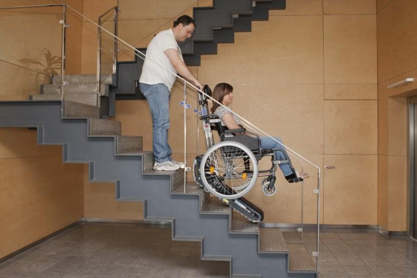 escaleras de silla de ruedas