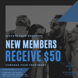 New Elevated Recovery Members Receive $50 Toward Your First Month Of Treatment!