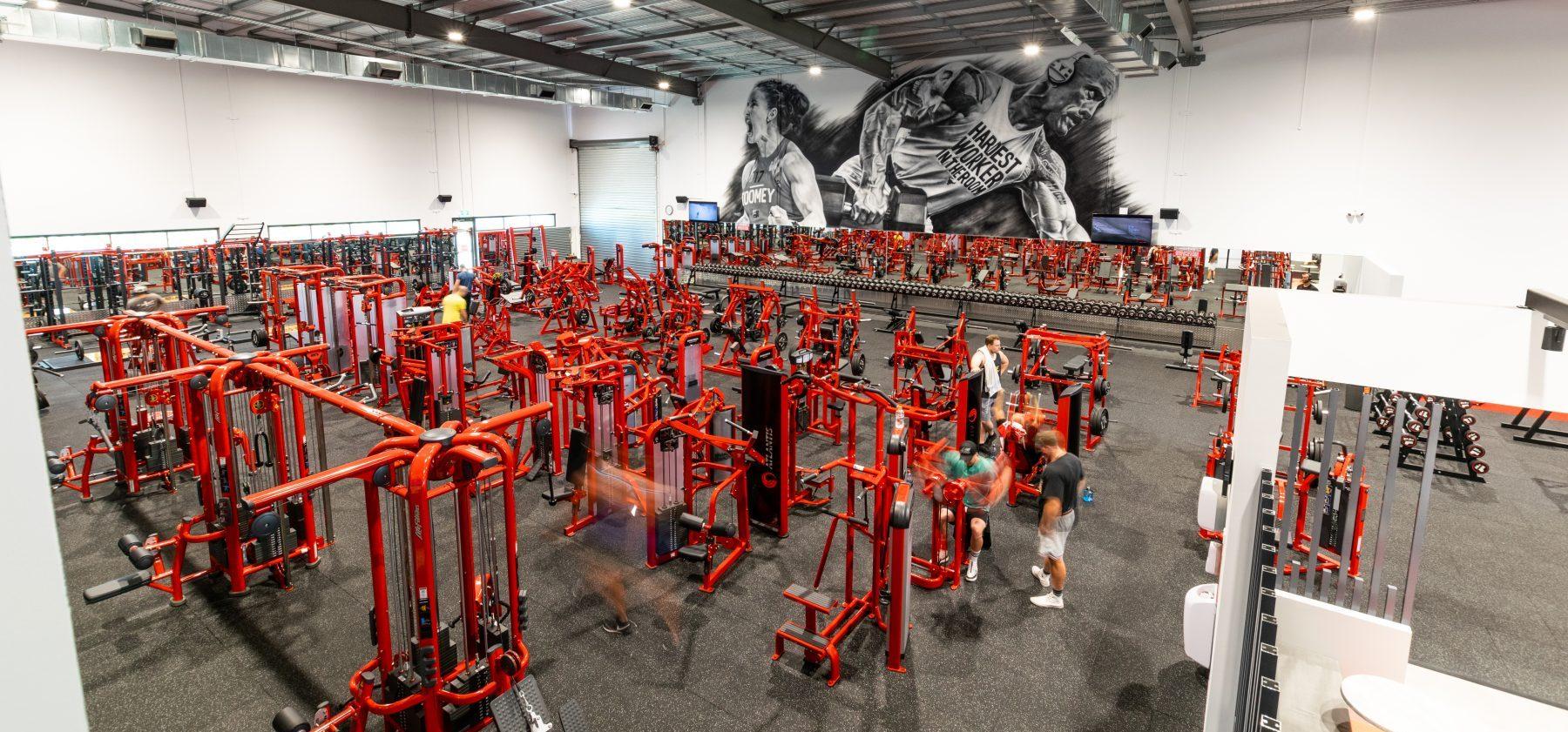 World gym Aerial Interior Weights