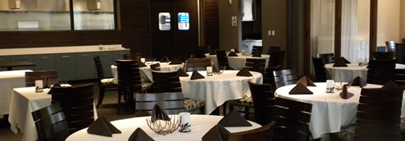 The dining room at Elevation restaurant