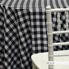 Black White Checkered Linen