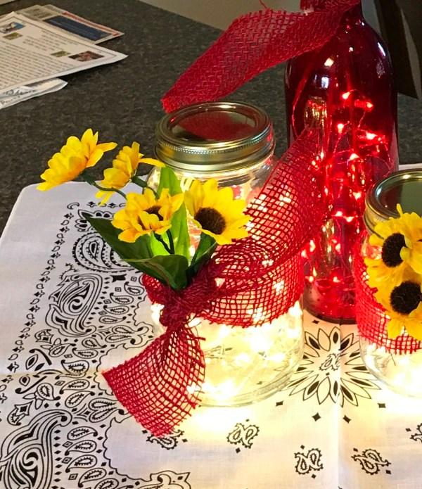 Large Mason Ribbon Flowers