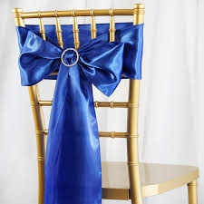 Royal Blue Satin Chair Sash