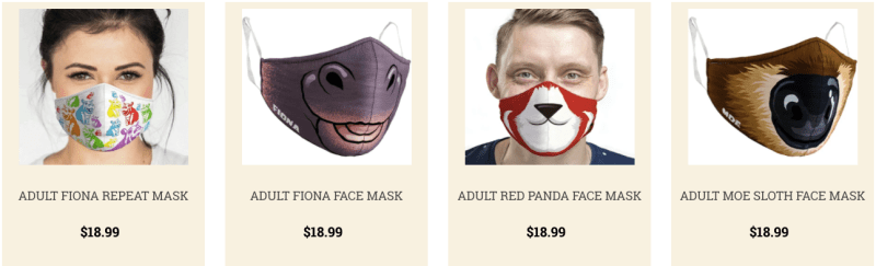 Face masks from Cincinatti zoo - zoos and aquariums
