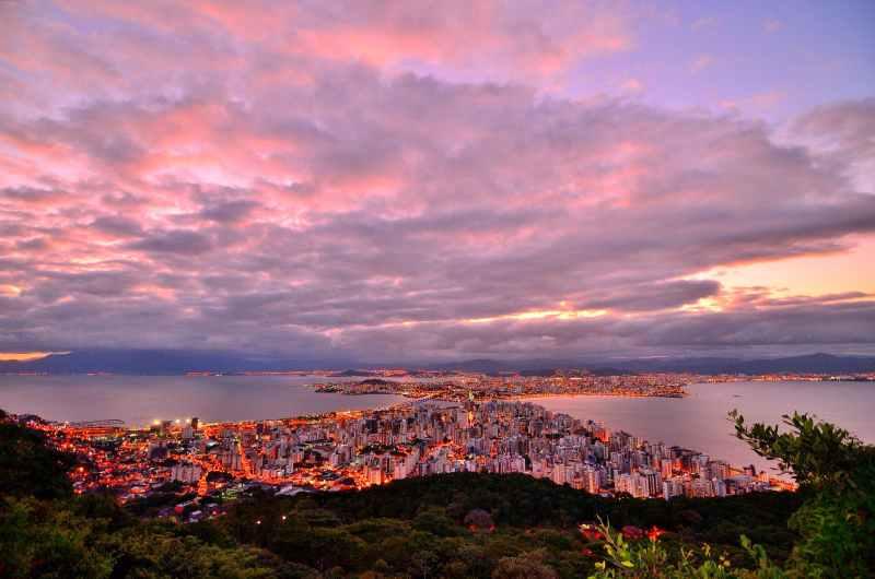 Brazil City Sunset