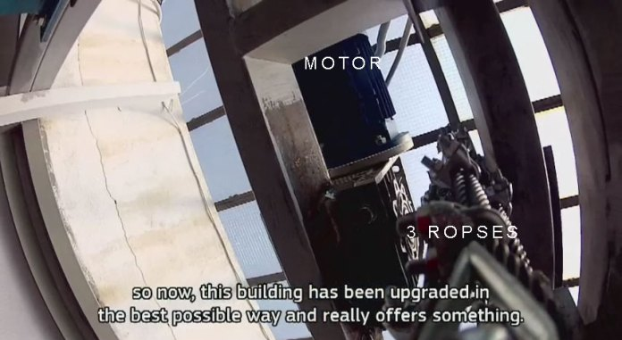 Mezolift Top of the Hoistway Motor Solar Elevator Lift