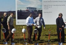 Schindler breaks ground on new Pennplant