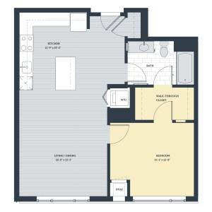 One Bedroom 1F Floor Plan