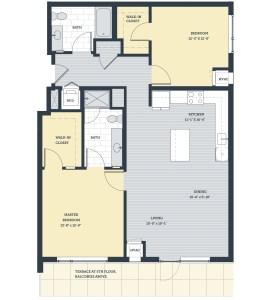 Two Bedroom 2J Floor Plan