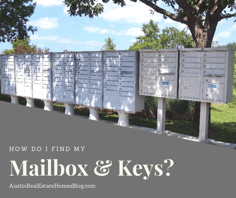 how do i find my maiilbox keys