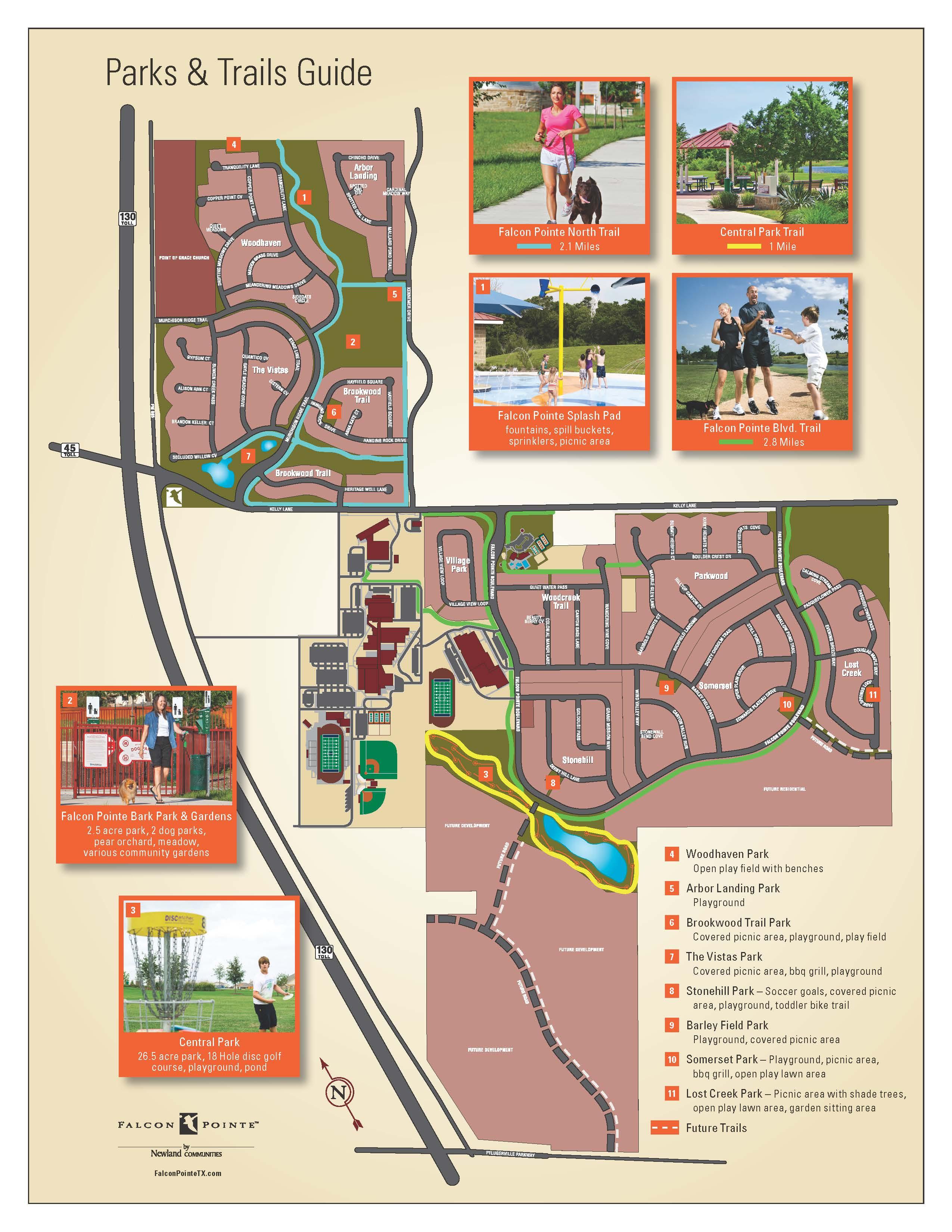 falcon pointe amenity map