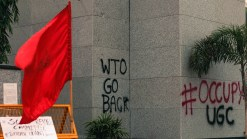 """The """"#OccupyUGC"""" narrative is, within this protest paradigm, intrinsically tied to the almost complementary narrative of """"WTO GO BACK"""". Come this December, India will probably (very probably) become ratify the international economic instrument called the """"General Agreement on Trade in Services (GATS)"""" . This WTO agreement, as students claim, is an affirmative intervention into India's higher education setup, wherein state policies would begin to be driven by a certain WTO mandate. This shall apparently lead to a situation of extreme disenfranchisement amongst the economically weaker sections of the society. A very obvious lapse at realising the crucial Right to Education?"""