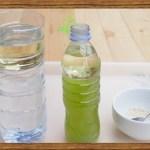 expériences avec de l'eau et de l'huile