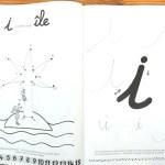 lettres Montessori cahier