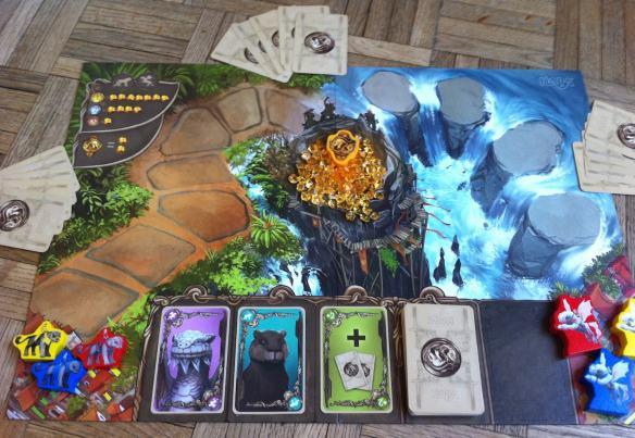 plateau cartes jeu héros de Kaskaria