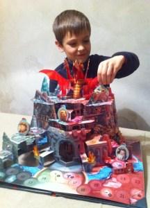 beau pop-up sur le thème du dragon garçon 7 ans