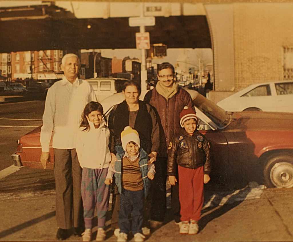 Me, my siblings, my father, and my deceased Grandparents in Parkslope circa 1988.