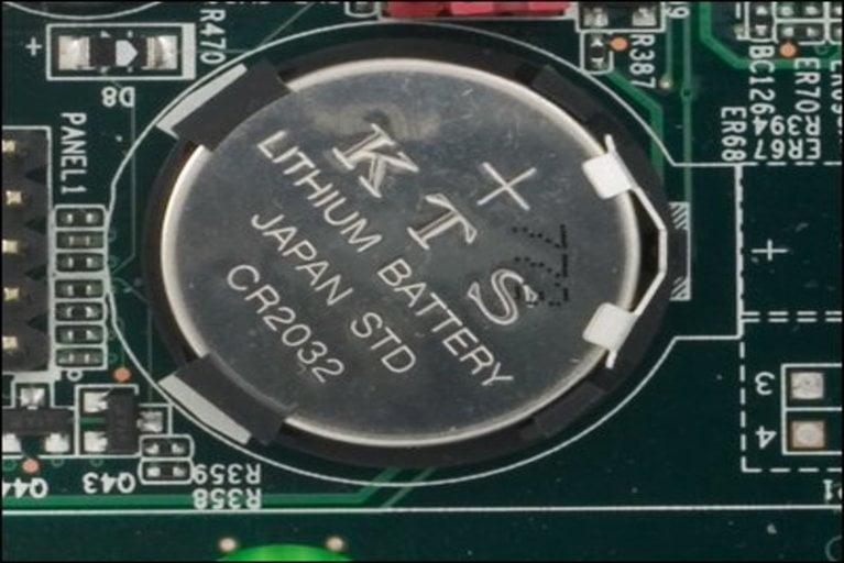 CMOS battery in digital camera